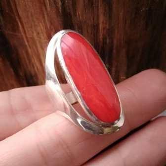 Anello Argento 925 Madrepora Corallo - Anillo Plata Coral Clacodora - Coral Ring (1)