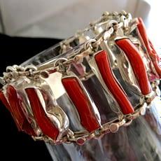 Bracciale Pulsera Bracelet Coral Silver Sterling