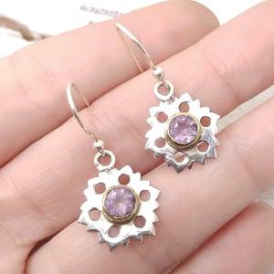orecchini fiore ametista