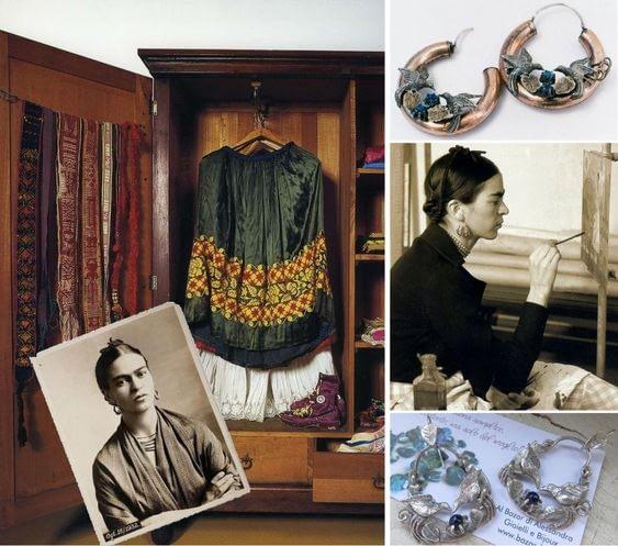armario Frida KAhlo pendientes