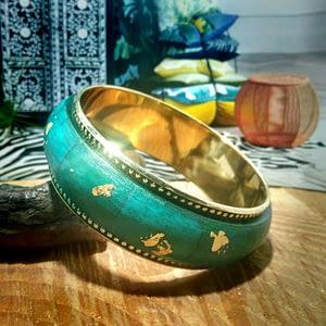brazalete turquesa oro