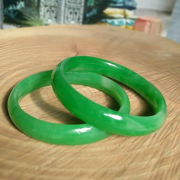 pulsera jadeita verde piedra