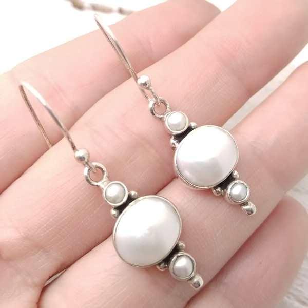 Orecchini 3 Perle Argento 925