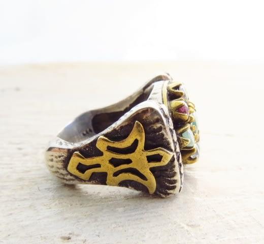 Anello Simbolo Angelo Pave di Pietre Silver Sterling Ring Angel