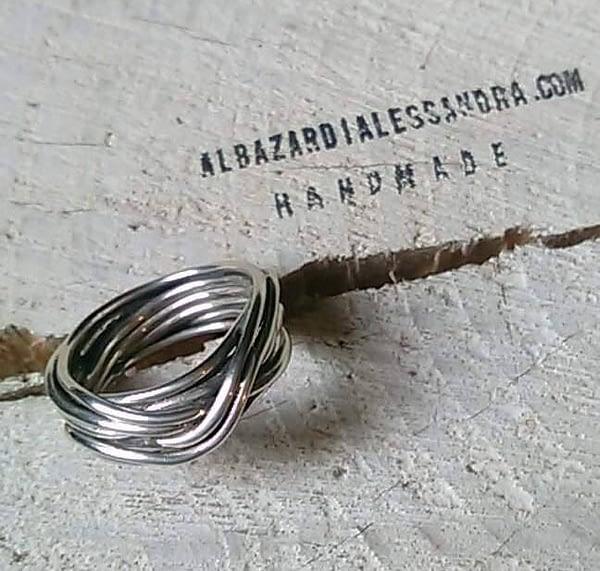 anello nido argento