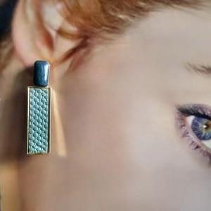orecchini smalti oro verdi