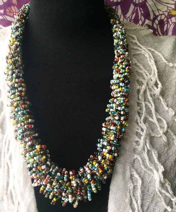 Collana Perline Multicolor