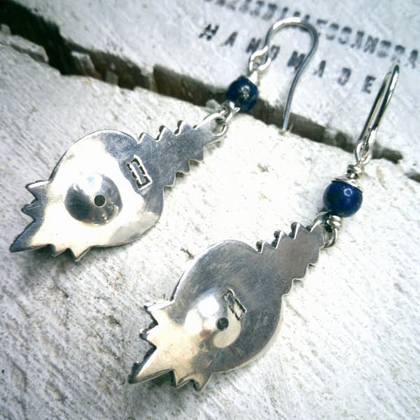 Orecchini Lapislazzuli Pietra Blu