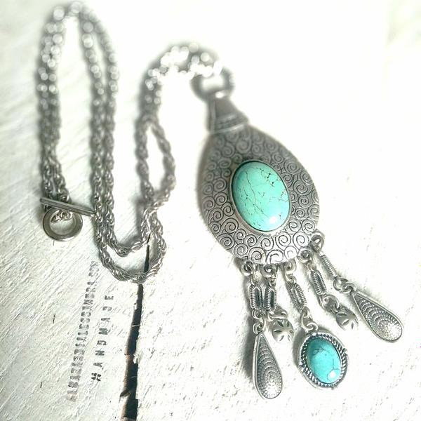 collar cadena colgante plateado